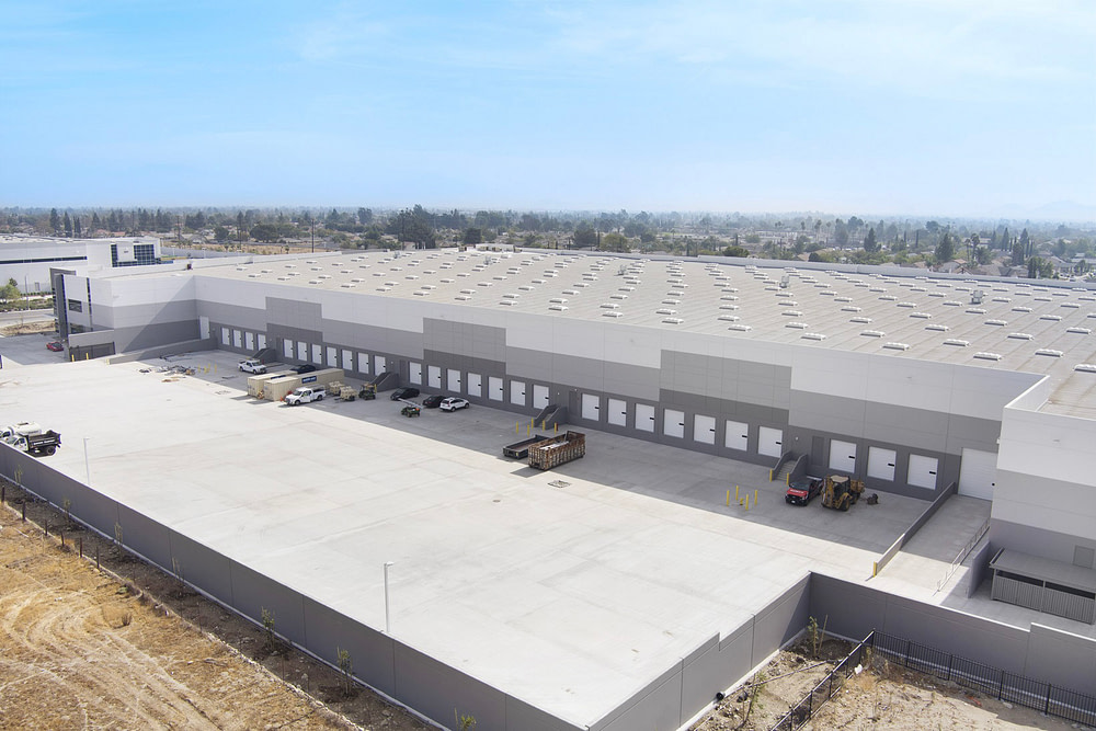 warehouse exterior drone photography